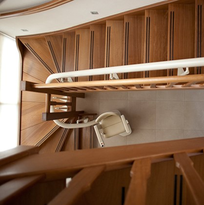 Lift im Treppenauge